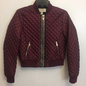 Michael Kors Studded Bomber Jacket Size XS